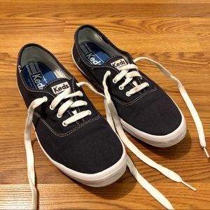 Navy Blue KEDS Champion Canvas Sneakers